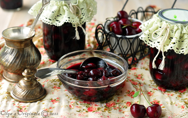 healthy cherry preserves