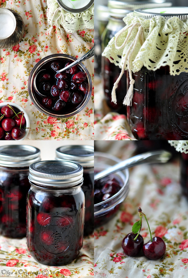 preserving cherries in their own juice