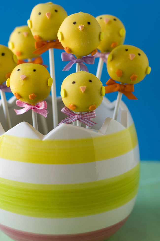 Chick Cake Pops Images : Olga s Originals   Spring Chick Pop Cakes and an Edible ...