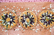 gluten-free plum and almond tarts